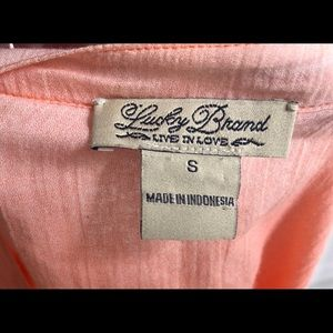 Lucky Brand Tops - Lucky Brand Small Orange/Peach Ombre Tie Front Top